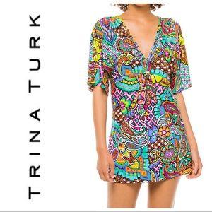 Trina Turk Madagascar paisley tunic